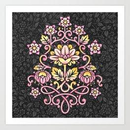 Damask Rose Art Print