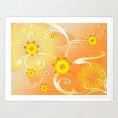Flower Design Art Print