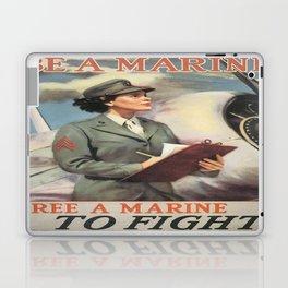 Vintage poster - Be a Marine Laptop & iPad Skin