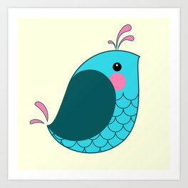 Birdy Wordy Art Print