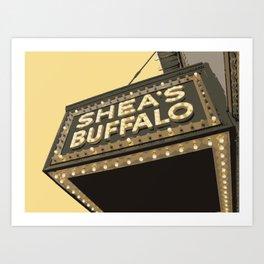 SHEA'S SIGNAGE Art Print