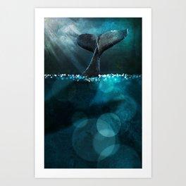 Moonlight Fluke Art Print