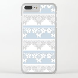 The blue lace . Clear iPhone Case