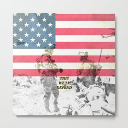 US Army Armed Forces USA Metal Print