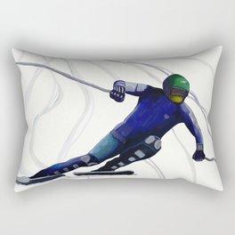 Blue Racer Rectangular Pillow