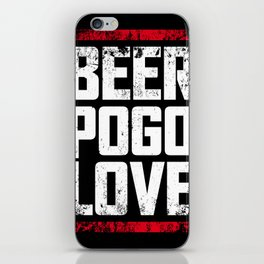 Beer, pogo & love iPhone Skin