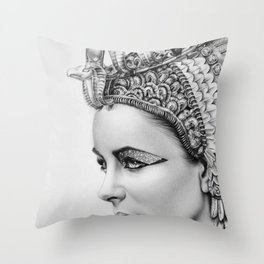 Elizabeth Taylor Cleopatra Portrait Throw Pillow