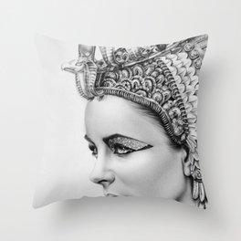 Elizabeth Taylor Cleopatra Portrait Throw Pillow