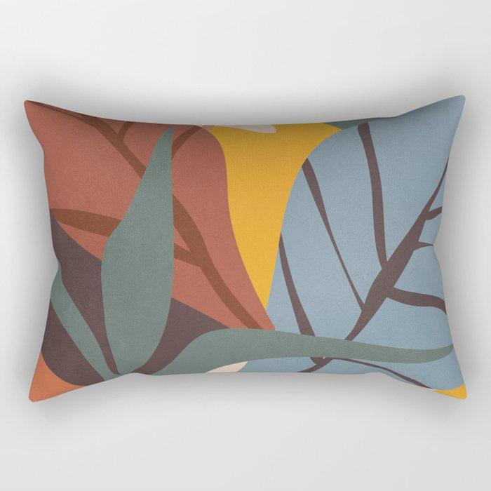 Abstract Art Jungle Rectangular Pillow