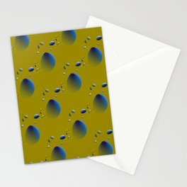 Blue flying objects Stationery Cards