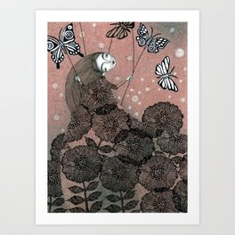 Night Garden (1) Art Print