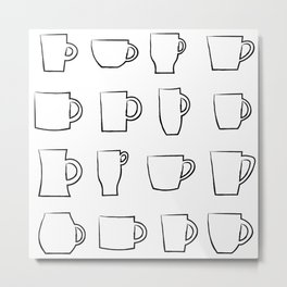 Mug Assortment Metal Print