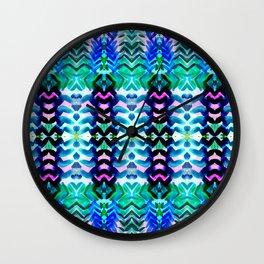 Tropical Blue Wall Clock