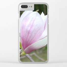 Soft Magnolia Days Clear iPhone Case