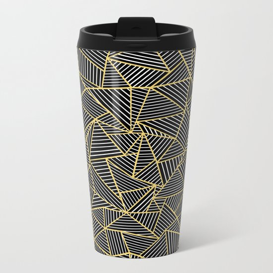 Ab Out Double Repeat Black Metal Travel Mug