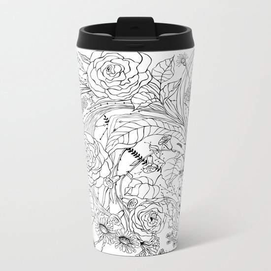 Bouquet of various flowers Metal Travel Mug