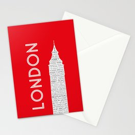 I Miss London Stationery Cards