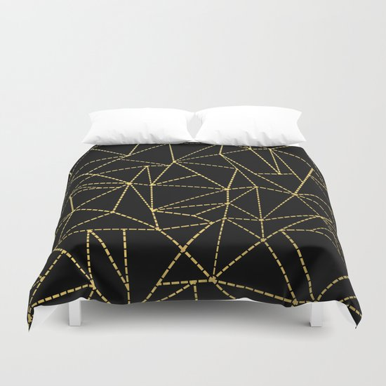 Ab Dotted Gold Duvet Cover