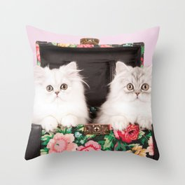 Shabby Chics on the Road Throw Pillow