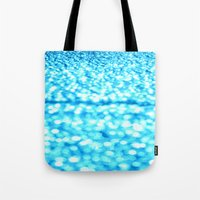 turquoise Tote Bags featuring Turquoise Glitter Sparkles by WhimsyRomance&Fun
