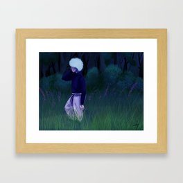 Neo-Green Life Killua Framed Art Print