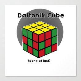 Daltoniks cube Canvas Print