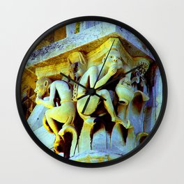 The Monkeys' Pantomime ~ Detail, The Leaning Tower of Pisa, Italy Wall Clock