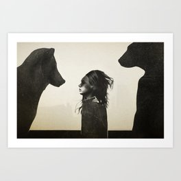 Unusual Encounter Art Print