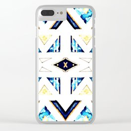 X Triangle Textile Pattern Clear iPhone Case
