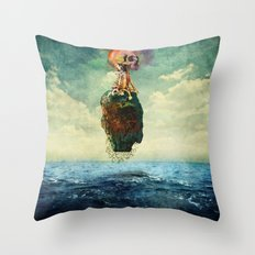 Skull Island Throw Pillow