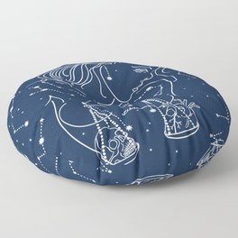 Libra zodiac sign Floor Pillow