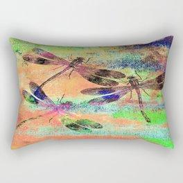 Mauritius Vintage Dragonflies Colours C Rectangular Pillow