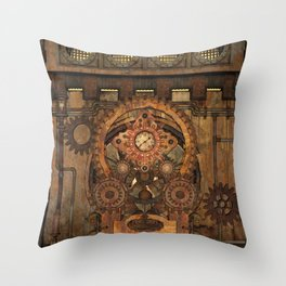 Steampunk design Throw Pillow