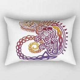 Celtic Chameleon Rectangular Pillow
