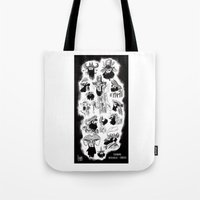 pirates Tote Bags featuring Pirates by Louis Van Driessche
