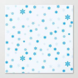 Flakes Canvas Print