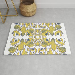 A portuguese tile of wild flowers Rug