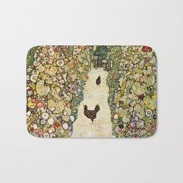 Gustav Klimt Garden Path With Chickens Bath Mat