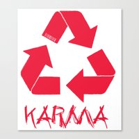 karma Canvas Prints featuring KARMA by ARTITECTURE