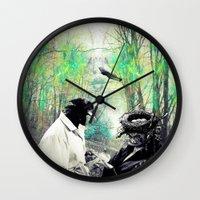 birdman Wall Clocks featuring Birdman by Cs025