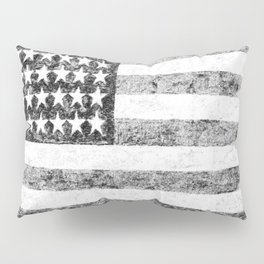 Grunge American Flag Pillow Sham