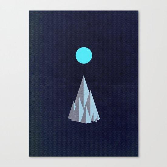 Minimal Mountains Canvas Print
