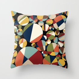 Mid Century Modern Circle Abstract Throw Pillow