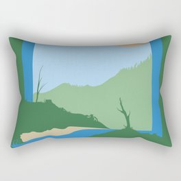 Unnatural Boundaries Rectangular Pillow