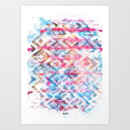 Navajo mess Art Print