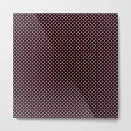 Black and Rose Wine Polka Dots Metal Print