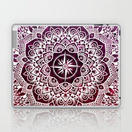 Voyaging Spirit Purple Red Mandala Laptop & iPad Skin