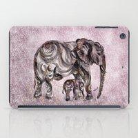 mom iPad Cases featuring Mom Eephant by Harsh Malik