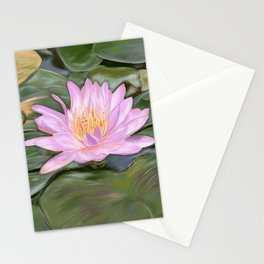 Lotus Flower Lilly Pond Stationery Cards