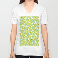 candy V-neck T-shirts featuring candy by ottomanbrim